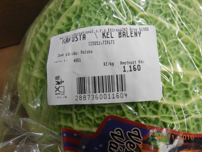 Nebezpečné potraviny: Čerstvá zelenina