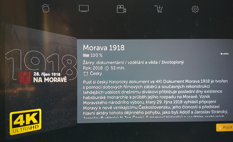 Dokumentární film 28. říjen 1918 na Moravě v Ultra HD (4K)