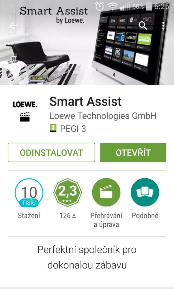 fotogalerie loewe bild aplikace smart assist. Black Bedroom Furniture Sets. Home Design Ideas