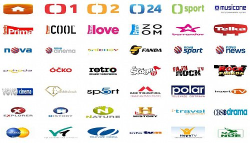Seznam stanic, které lze sledovat po navštívení stránek http://televizeonline.jecool.net/