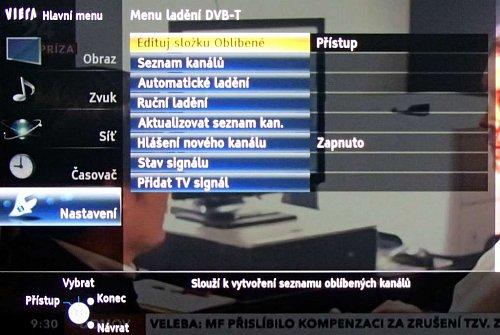 V DVB-T jednoduše setřídíte kanály fyzicky i když můžete použít i oblíbené položky. Ty se uplatní především u tuneru satelitního.
