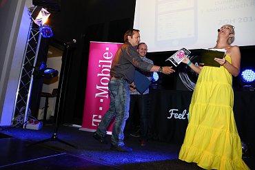Daniel Broulík ze společnosti T-Mobile během přebírání ceny v kategorii Marketingová inspirace.