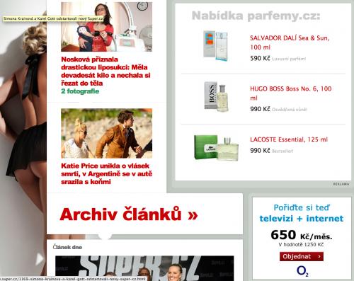 Nový Super.cz reklamou jen přetéká