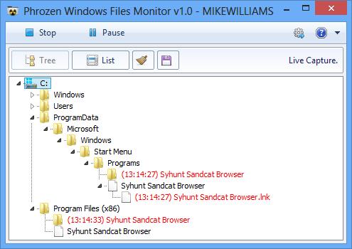 Windows File Monitor monitoruje změny v systému