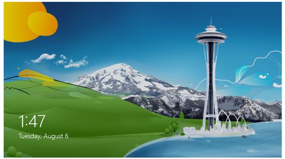 Uzamykací obrazovka Windows 8