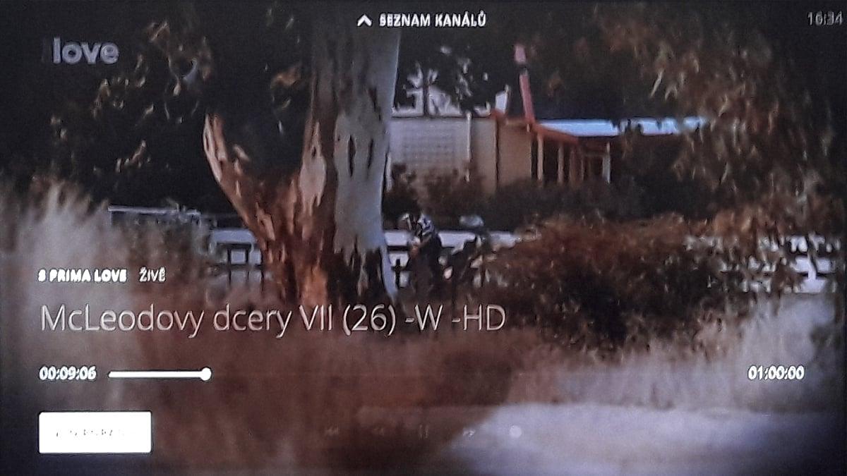 O2 TV - informace v obraze