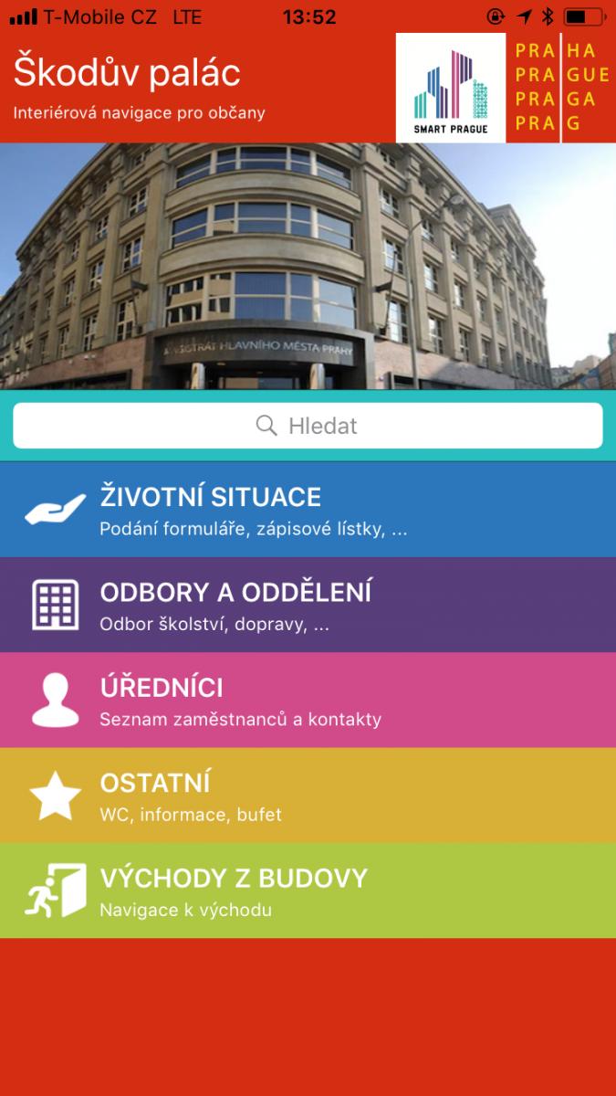 Škodův palác a Smart City: Navigace pomocí beaconů a mobilu