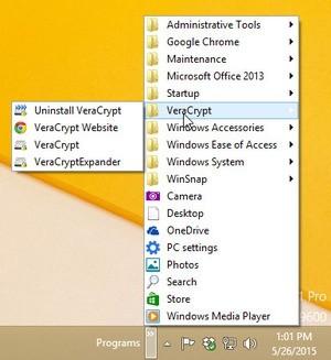 Nabídka Start ve Windows 8.1