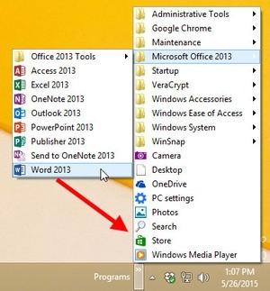 Přetažení položek v nabídce Start ve Windows 8.1