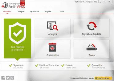 Ashampoo Anti-Virus nabízí kvalitní ochranu v jednoduše ovladatelném rozhraní
