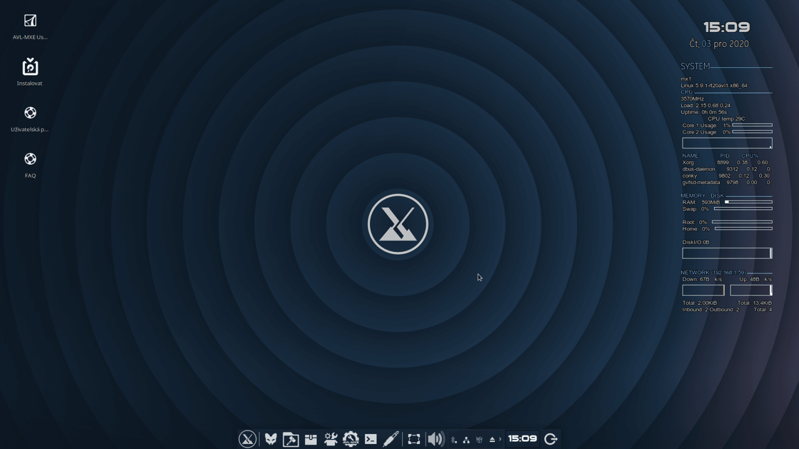 AV Linux MX Edition 2020-12