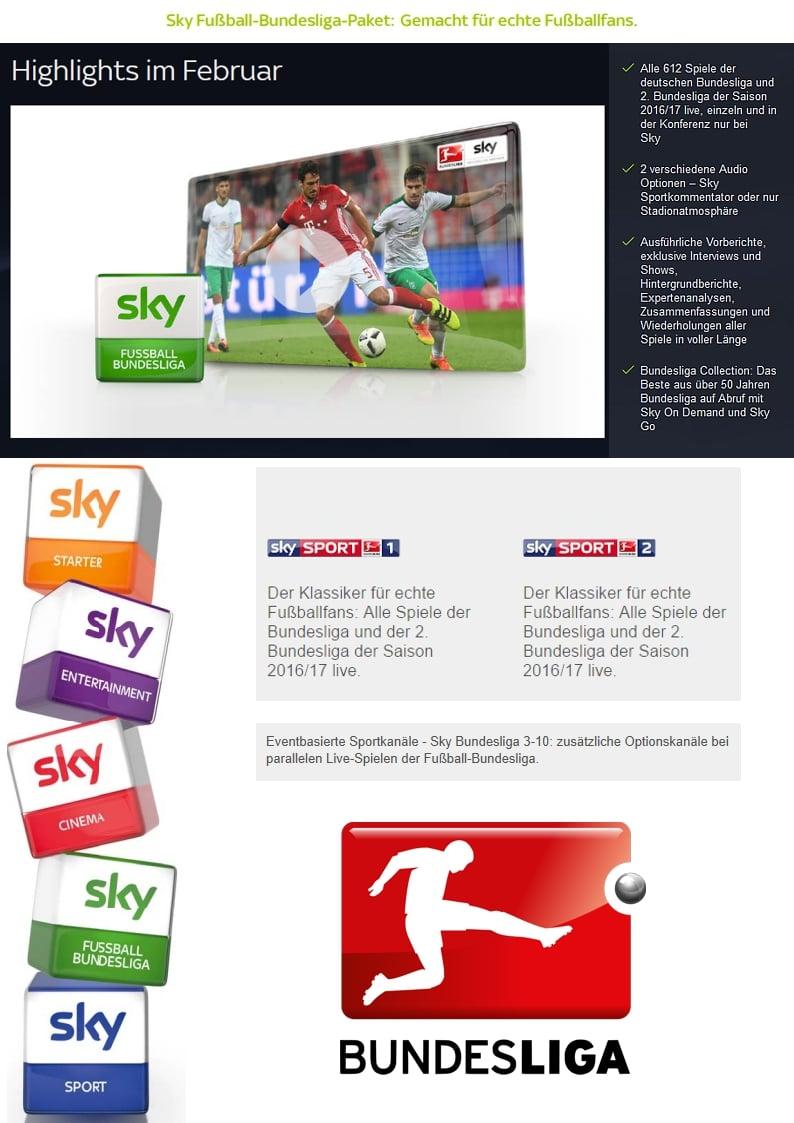 Sky Deutschland - programová nabídka