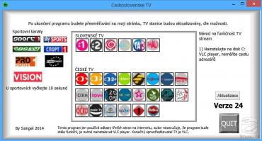 <p>Nabídka aplikace obsahuje většinu nejrozšířenějších televizních kanálů</p>