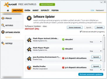 Vyhledávání aktualizací pro nainstalované aplikace