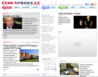 Web Česká pozice v den spuštění 1.12.2010