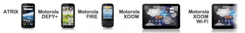 Nabídka zařízení s Androidem je u Motoroly opravdu široká...