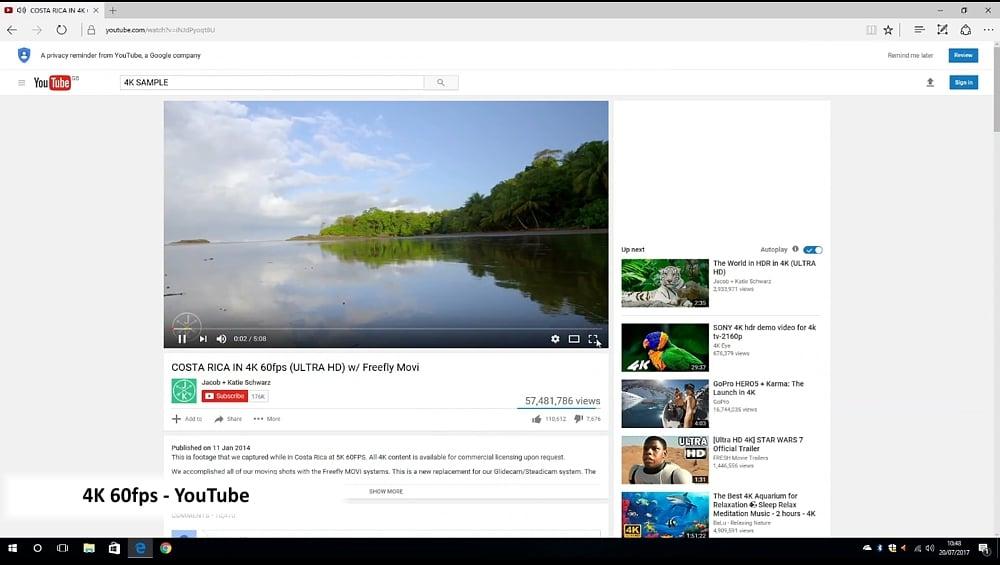 Ukázky přehrávání streamovaného videa