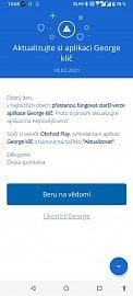 Mobilní aplikaci George čeká velká aktualizace, spojí se s ní George klíč. (22. 3. 2021)