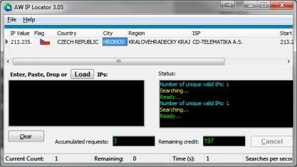 Atelier Web IP Locator zjistít pozici serveru