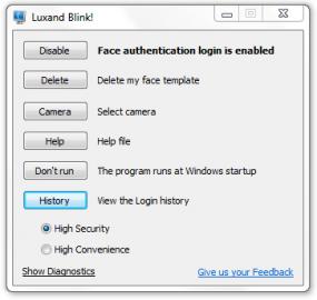 <p>Hlavní okno aplikace disponuje jen několika tlačítky</p>