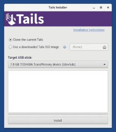 Instalátor systému Tails
