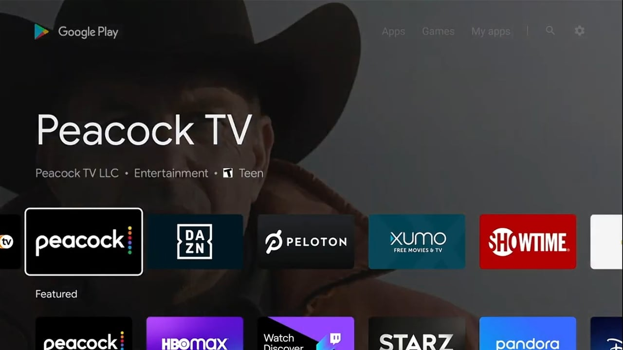 Peacock: aplikace pro Nvidia Shield