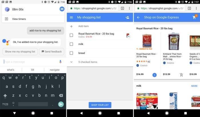 Nákupní seznam v Asistentovi Google