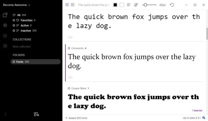 Program FontBase patří mezi zdarma dostupné programy pro správu fontů. Program je k dispozici pro operační systémy Windows, Linux a Mac