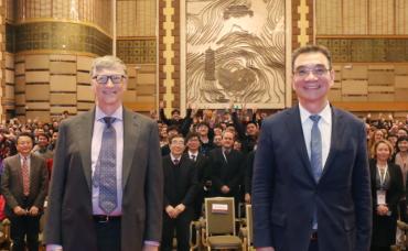 Bill Gates na pekingské univerzitě