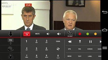Gogen TVF40384Web nabízí výbornou aplikaci Smart Center pro mobil či tablet, která dokáže nejen televizor ovládat, ale i převzít obraz z televizního tuneru. A fungovalo to naprosto pohodově!