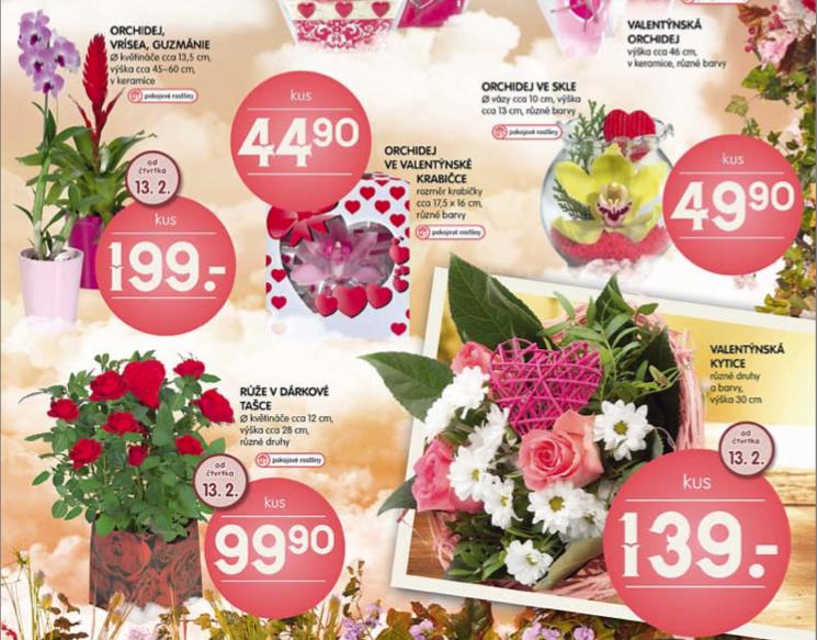 Valentýnské nabídky supermarketů