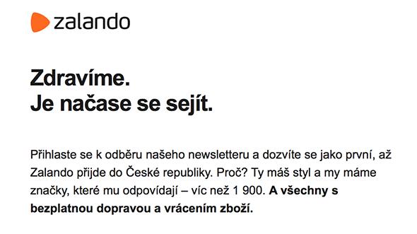 [aktualita] Do Česka vstoupí velký e-shop Zalando, nabídne doručení zboží zdarma