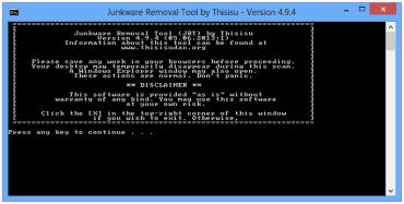 Junkware Removal Tool dokáže odstranit řadu nechtěně nainstalovaných rozšíření
