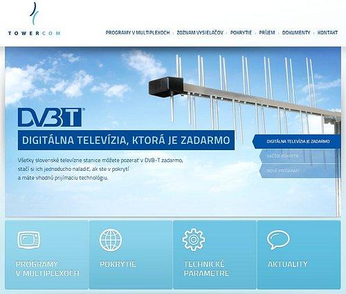 Nová podoba webu dvb-t.towercom.sk