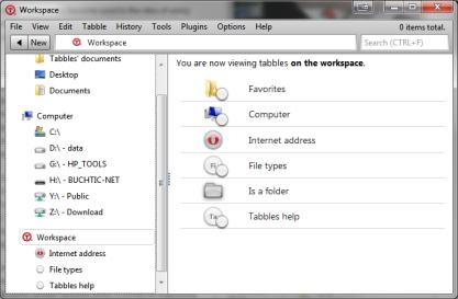 Tabbles organizuje soubory a složky