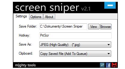 Pomocí Screen Sniper uložíte screenshot obrazovky přímo do souboru