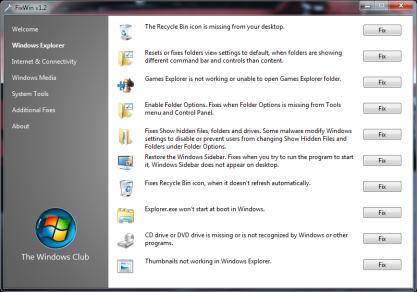 S pomocí FixWin vyřešíte na 50 nejběžnějších problémů, které se mohou vyskytnou ve Windows