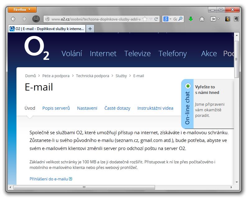 Ukázka prvního e-mailu online