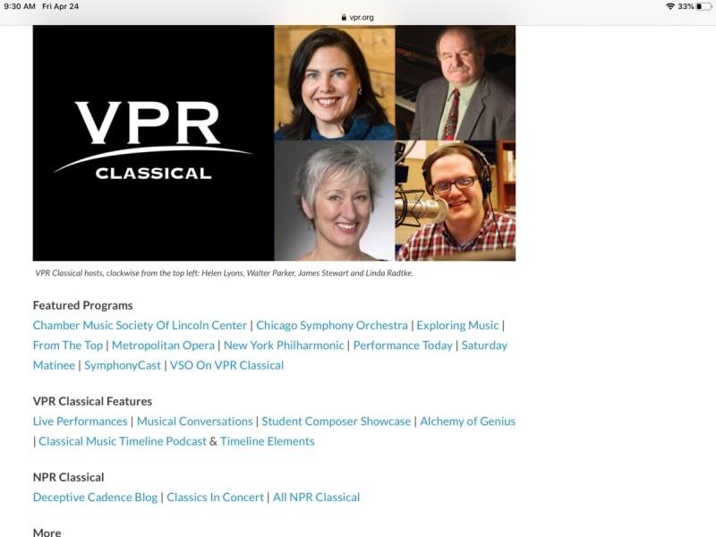 VPR Classical je doslova prošpikována různými představeními.