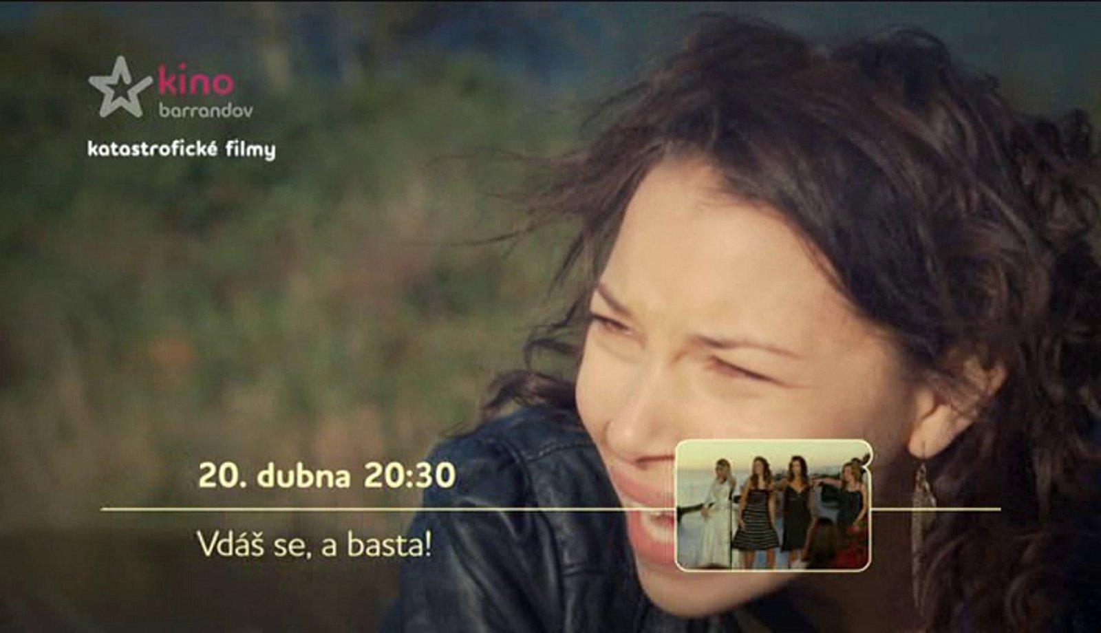 Upoutávky a promo nové televize Kino Barrandov