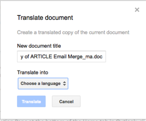 Disk Google dokáže přeložit dokument do spousty světových jazyků