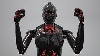 Robot černý zlý