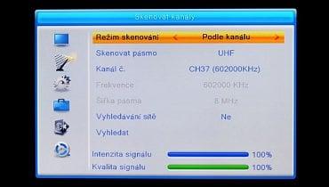 TeleSystem TS6820 T2 HEVC twin - manuální ladění.