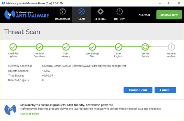 Malwarebytes Anti-Malware je velmi užitečná aplikace, která zjišťuje a opravuje problémy v počítačích s operačním systémem Windows 10Malwarebytes Anti-Malware je velmi užitečná aplikace, která zjišťuje a opravuje problémy v počítačích s operačním systémem Windows 10