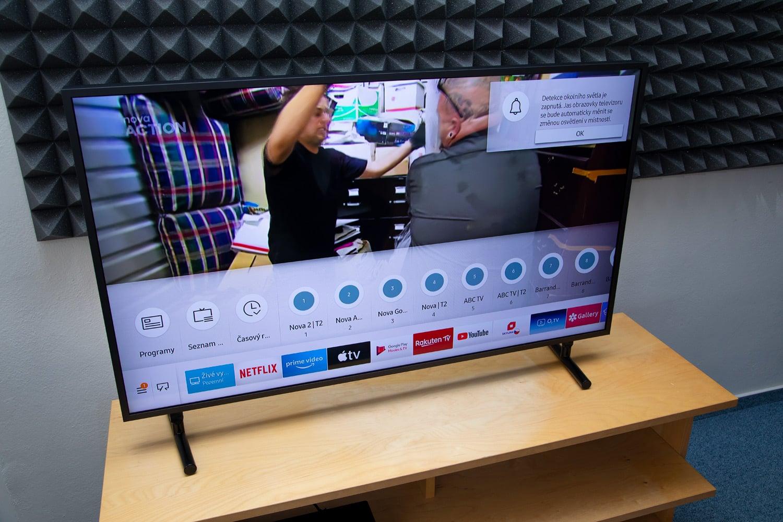 Samsung QE43LS03: Smart Hub, EPG, řazení stanic