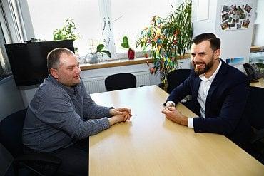Mirek Havlíček byl dobře naladěn a s Daliborem Z. Chvátalem si dlouze povídali o trendech a novinkách v oblasti zákaznických call center. (02/2018)