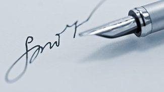 Podpis perem