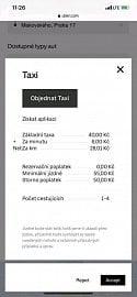 V Praze od 23. 12. 2019 funguje Uber Taxi.
