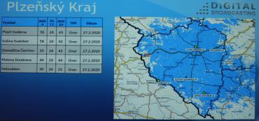 Vypnutí DVB-T vysílačů Digital Broadcasting v okolí Plzne.