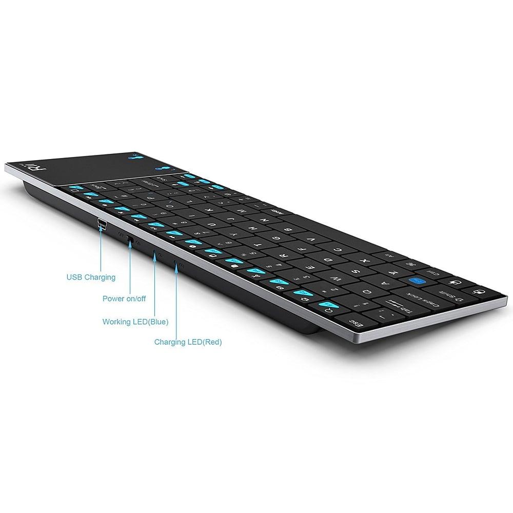 Bezdrátová klávesnice Rii K12 BT Ultra Slim
